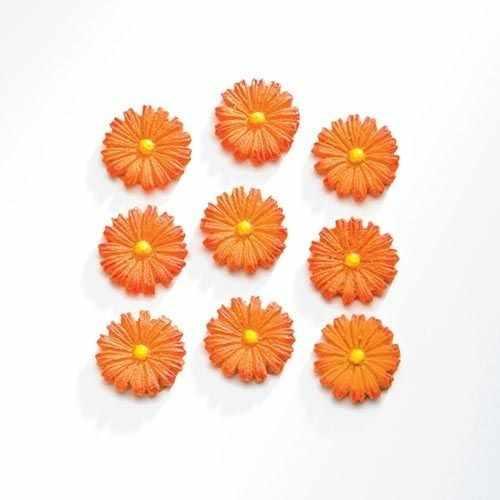 63805401 Цветы (полирезин), 9 шт. оранжевый