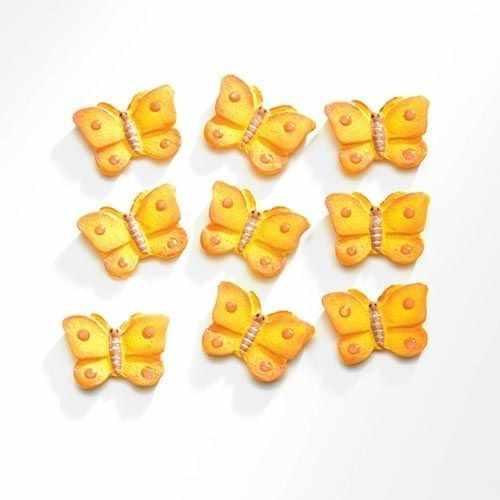 63805420 Бабочки (полирезин), желтый