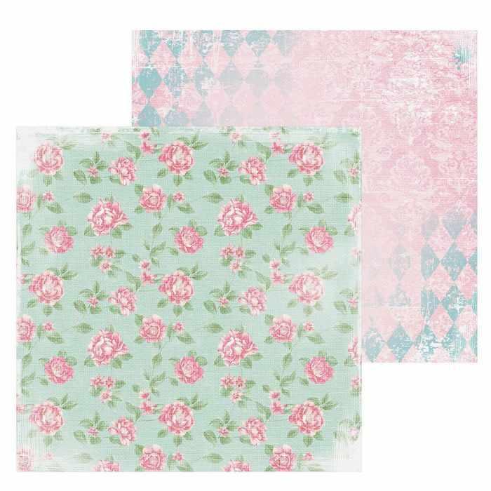 1561846 Бумага для скрапбукинга «Розовые бутоны»