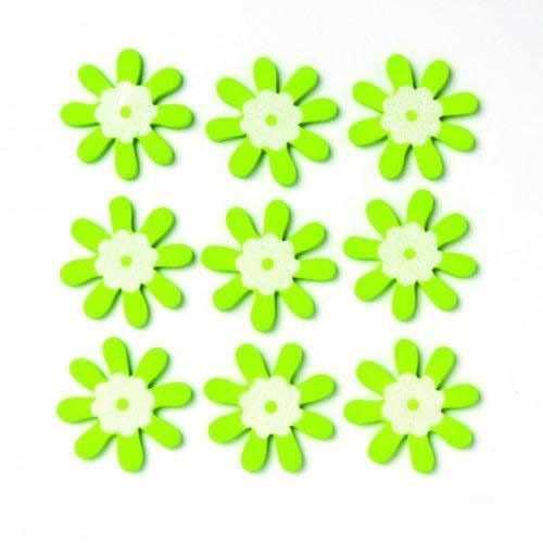 61710006 Фигурки из дерева Цветок, зеленый