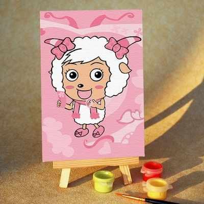 """MA036 """"Овечка в розовом"""" - раскраска (Menglei)"""