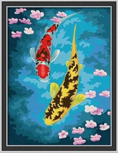 "ME007 ""Рыбы в пруду"" - раскраска (Menglei)"