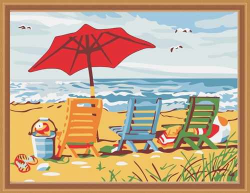 "ME047 ""Пустынный пляж"" - раскраска (Menglei)"