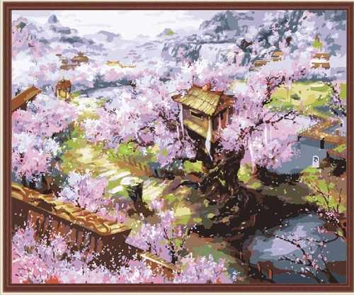 """MG134 """"Весеннее цветение"""" - раскраска (Menglei)"""