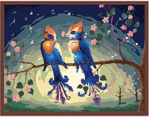 "MG156 ""Райские птицы"" - раскраска (Menglei)"
