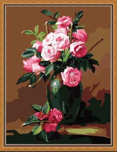 """MG174 """"Ваза с цветами"""" - раскраска (Menglei)"""