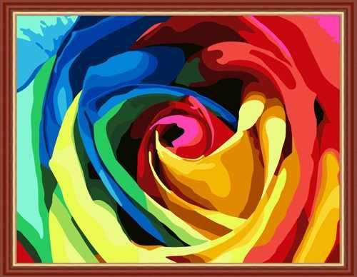 """MG213 """"Роза"""" - раскраска (Menglei)"""