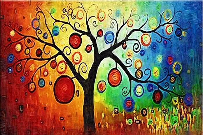 """MG230 """"Сказочное дерево"""" - раскраска (Menglei)"""