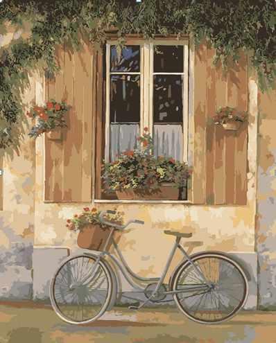 "MG530 ""Велосипед с цветами"" - раскраска (Menglei)"