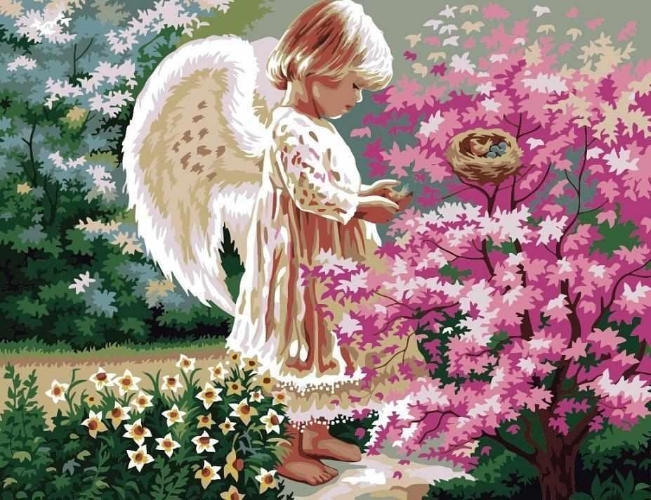 "MMC010 ""Ангел в цветах"" - раскраска (Menglei)"
