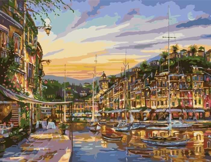 """MMC016 """"Городская река"""" - раскраска (Menglei)"""