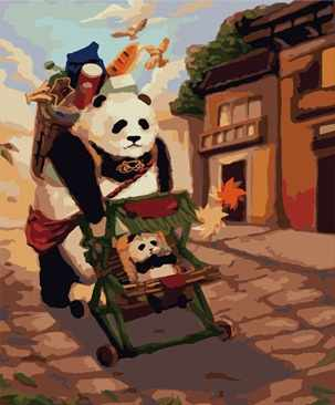 "MMC030 ""Мультяшный панда"" - раскраска (Menglei)"