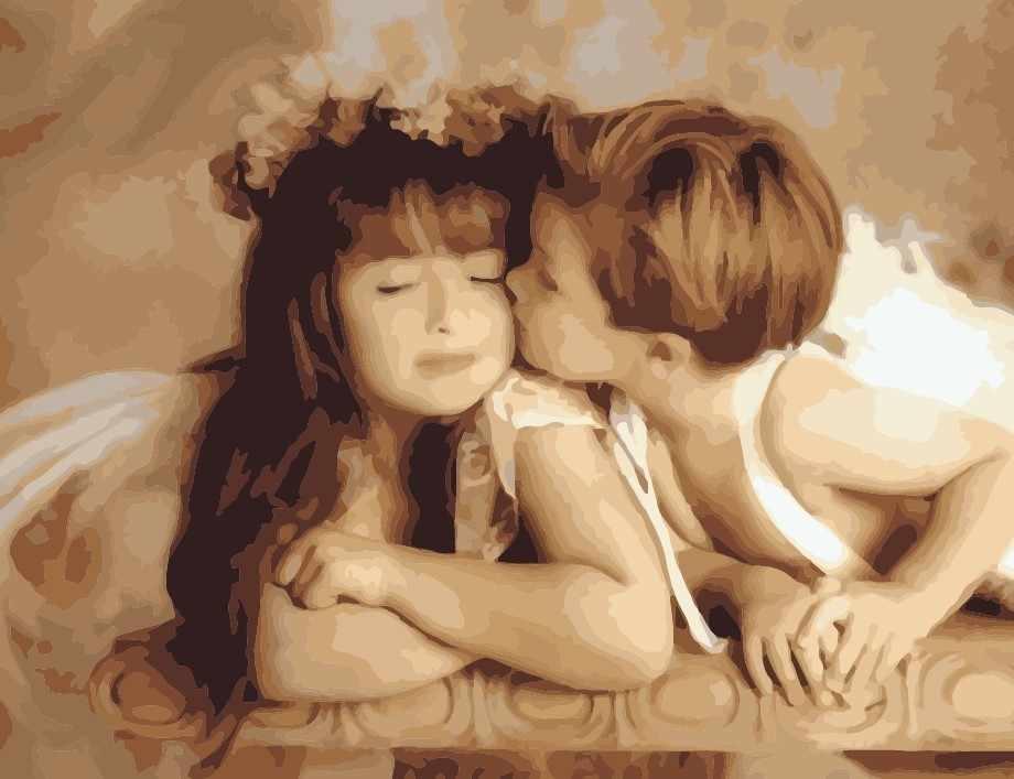 "MMC059 ""Случайный поцелуй"" - раскраска (Menglei)"