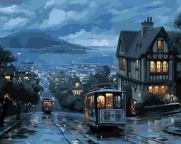 "MMC082 ""Вечерний трамвай"" - раскраска (Menglei)"