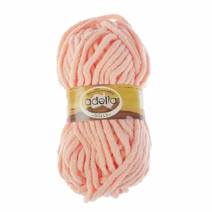Пряжа Adelia Dolly 21 персиковый