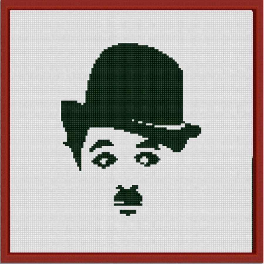 """НИК 1224 """"Чарли Чаплин"""" - схема для вышивания"""