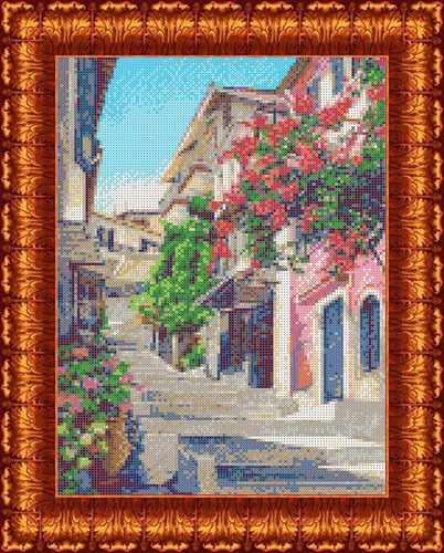 КБП 3045 Улочки Италии - схема для вышивания (Каролинка)