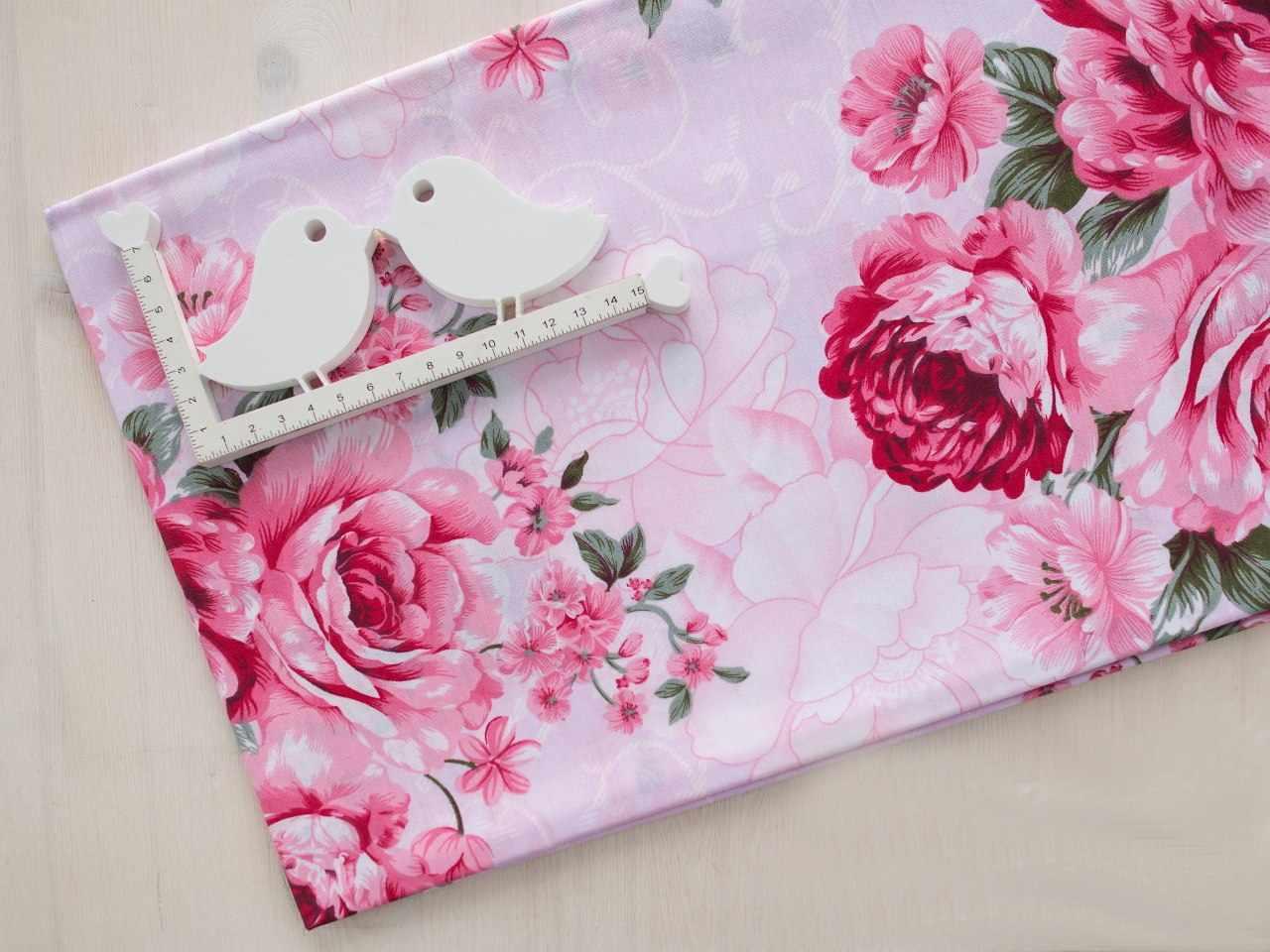 К411 Пионы на розовом