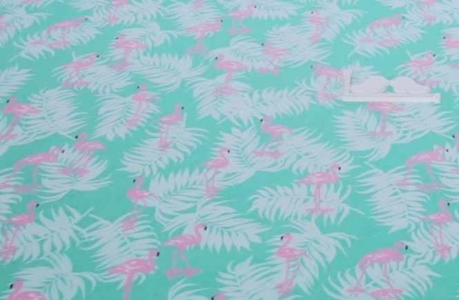 К416 Фламинго на бирюзовом