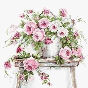 B2331 Розы на табурете (Luca-S)