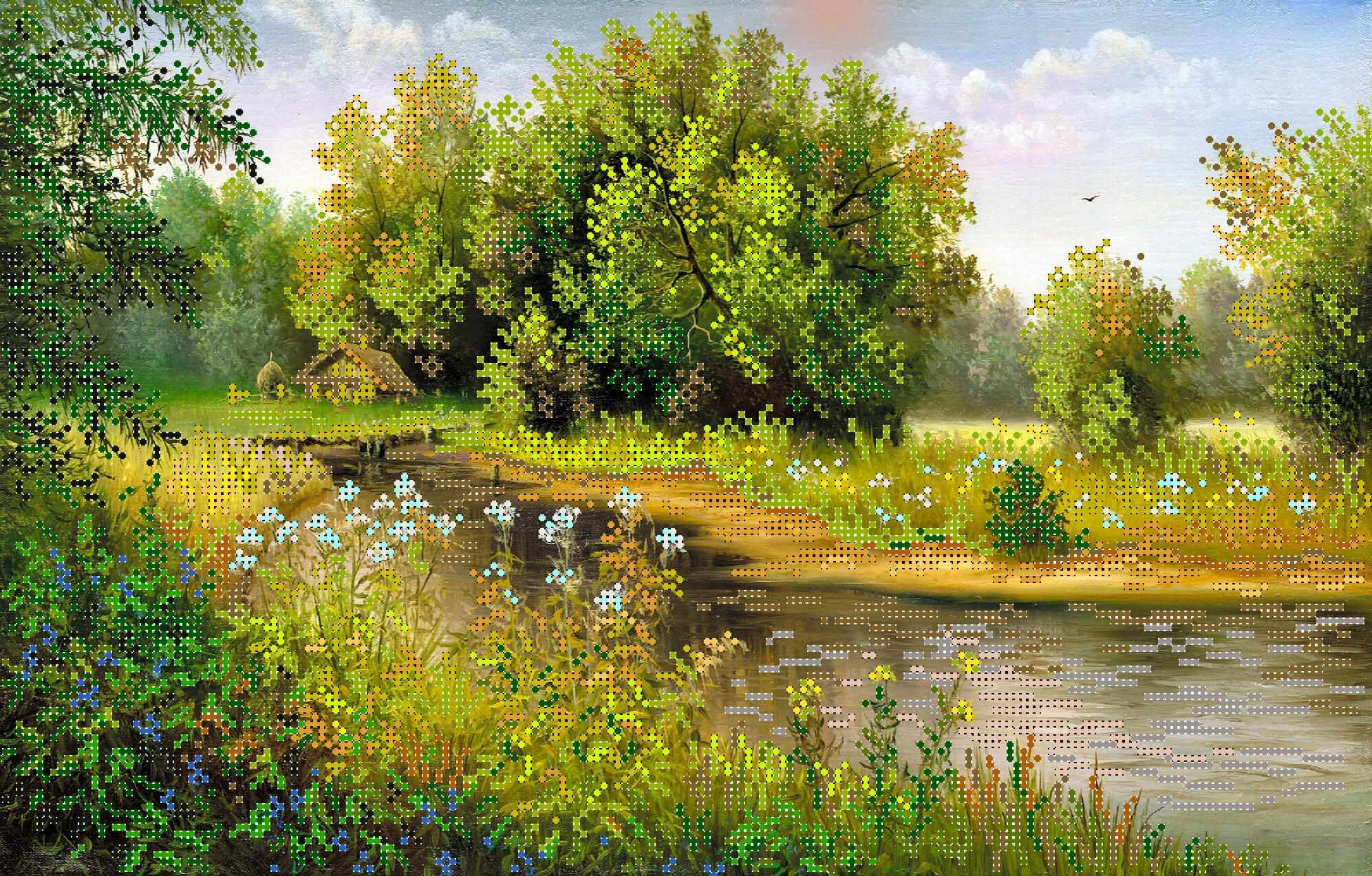 4241 Лето - рисунок на шелке (МП)