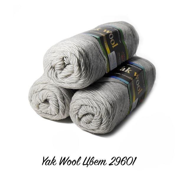 Пряжа Color City Yak Wool Цвет.29601 Светло-серый