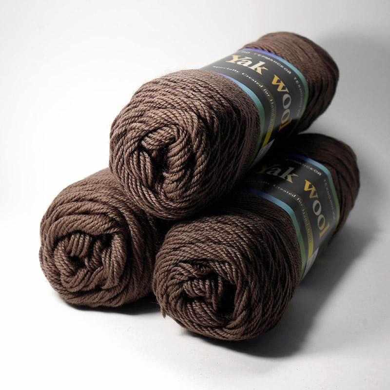 Пряжа Color City Yak Wool Цвет.5102 коричневый