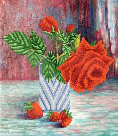 РКП-663 Прекрасная роза - схема для вышивания (Марiчка)