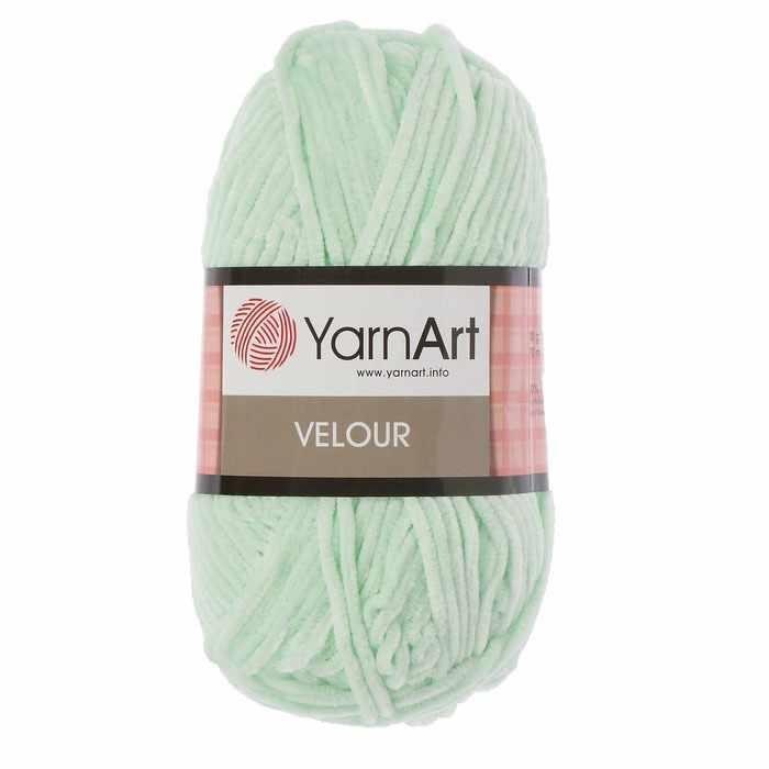 Пряжа YarnArt Velour Цвет. 845 Салатовый