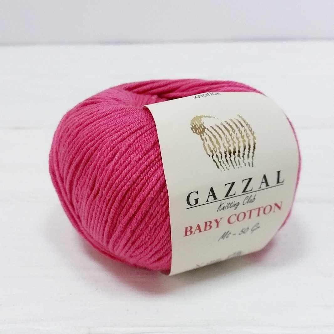Пряжа GAZZAL Baby Cotton Gazzal Цвет.3415 Малина