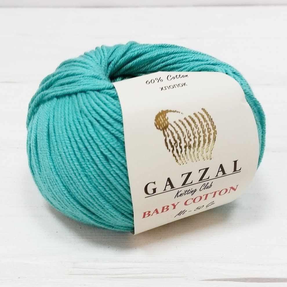 Пряжа GAZZAL Baby Cotton Gazzal Цвет.3426 Изумруд