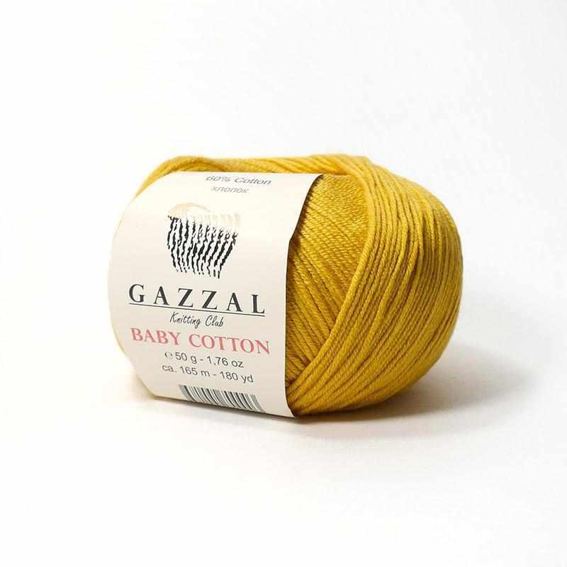 Пряжа GAZZAL Baby Cotton Gazzal Цвет.3447 Горчица