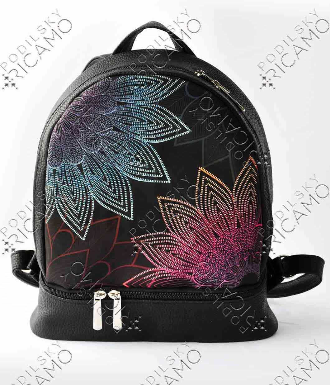 Рюкзак-002 Набор для вышивания на рюкзаке. Черный. Мандала