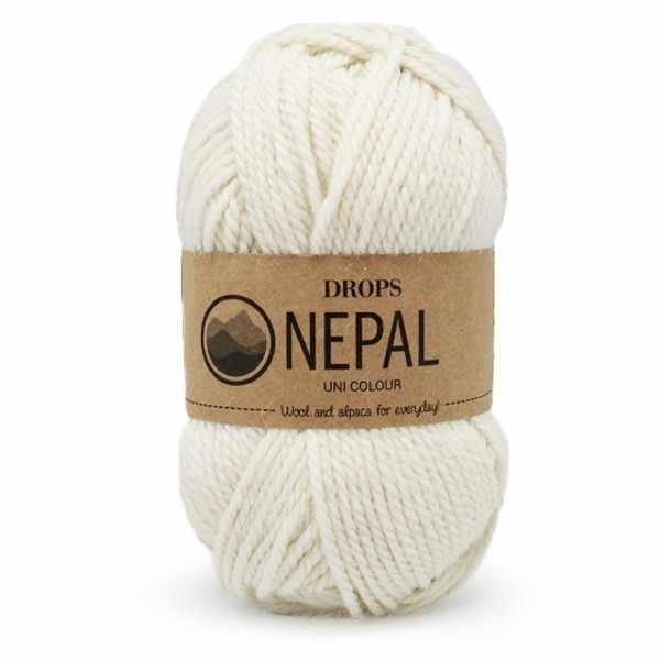 Пряжа  Nepal Цвет.0100 Молочный