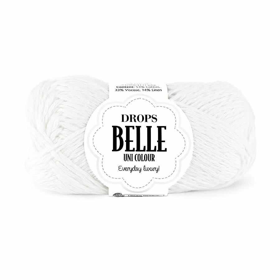 Пряжа DROPS Belle Цвет. 01 Белый