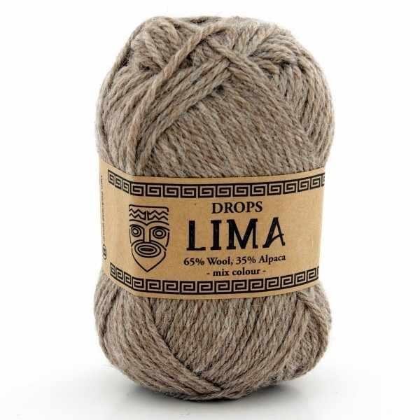 Пряжа DROPS Lima Цвет. m0619 Бежевый меланж