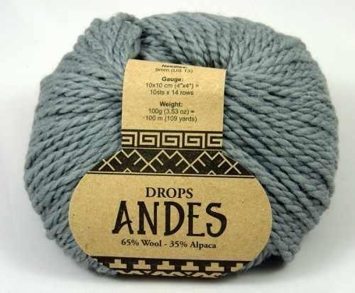 Пряжа DROPS Andes Цвет.8465 Серый