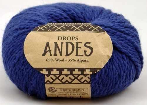 Пряжа DROPS Andes Цвет.6928 Синий