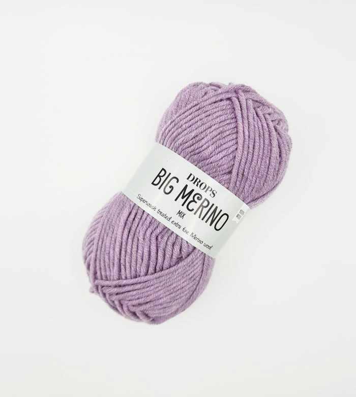 Пряжа DROPS Big Merino Цвет.11 Розово-сиреневый