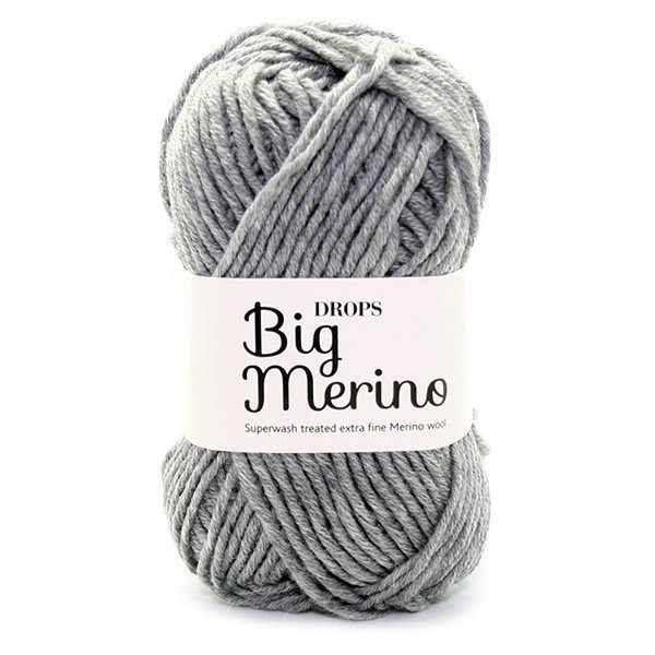 Пряжа DROPS Big Merino Цвет.02 Серый