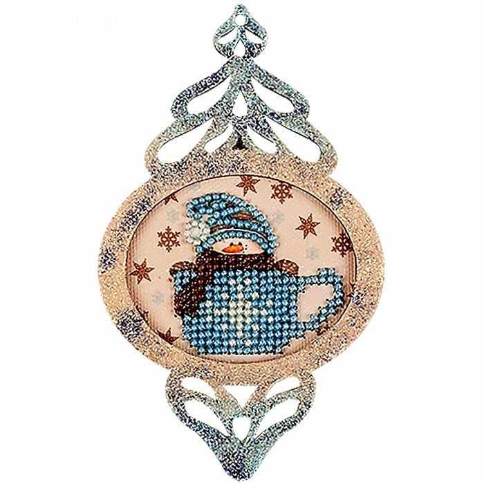 FLE-016 Ёлочная игрушка для вышивания бисером