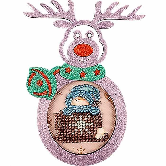 FLE-018 Ёлочная игрушка для вышивания бисером