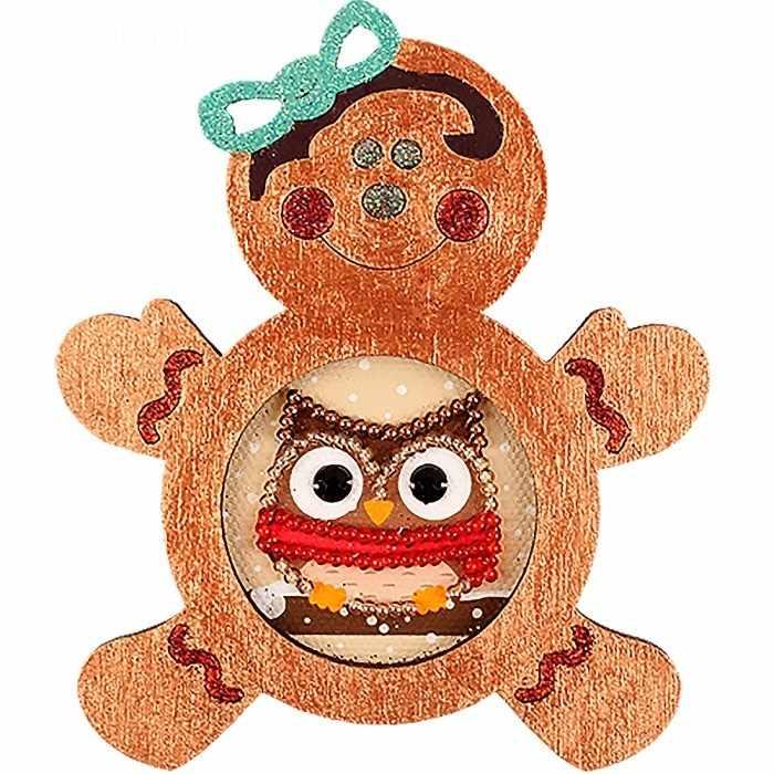 FLE-027 Ёлочная игрушка для вышивания бисером