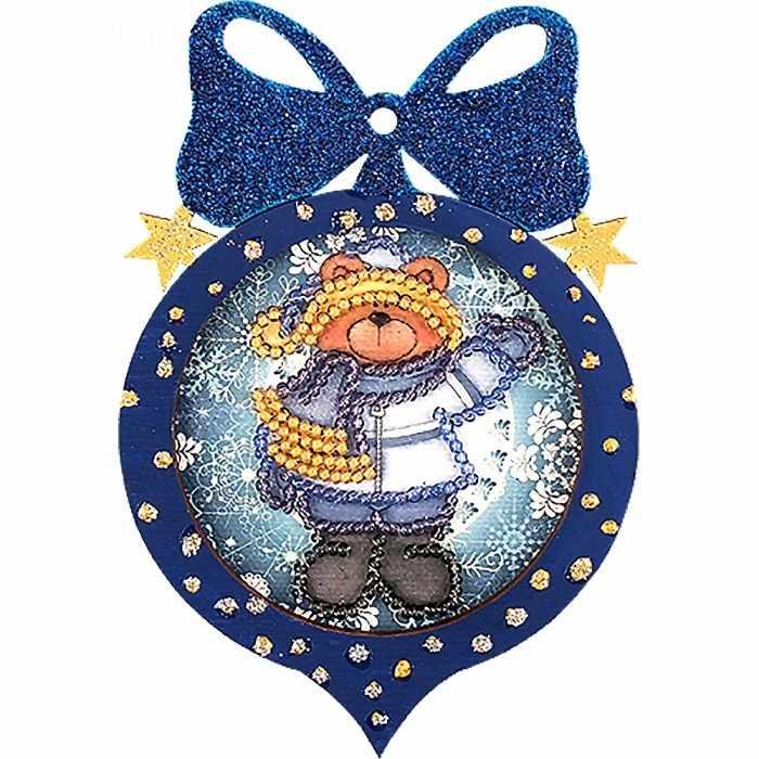FLE-029 Ёлочная игрушка для вышивания бисером