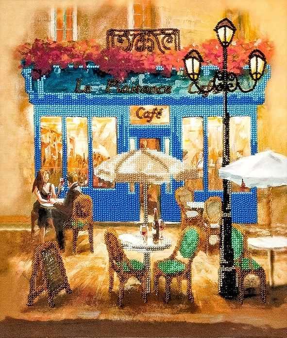 """FLF-081 Набор для вышивки бисером """"Café"""""""