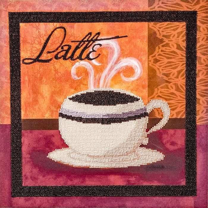 """FLF-063 Набор для вышивки бисером """"Latte-1"""""""