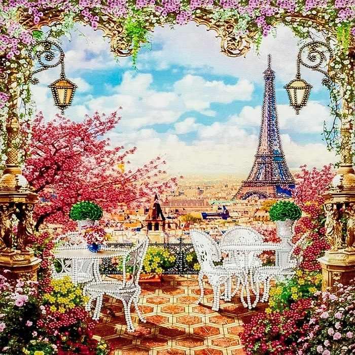 """FLF-095 Набор для вышивки бисером """"Весна в Париже """""""