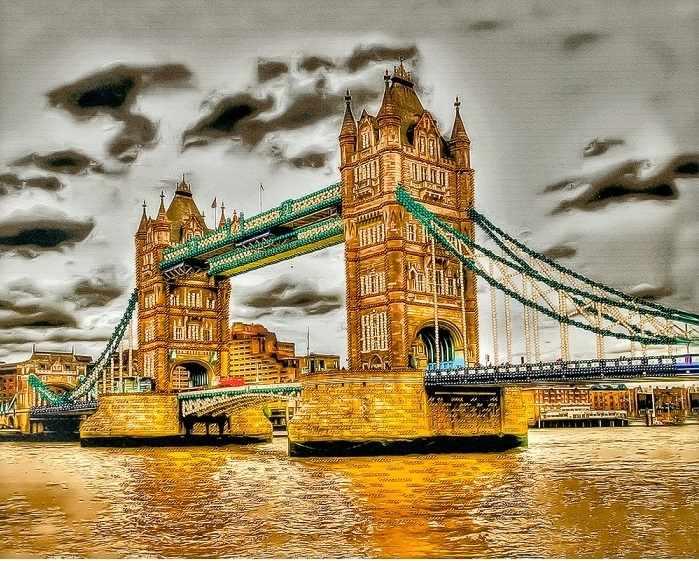 """FLF-088 Набор для вышивки бисером """"Лондонский мост-2"""""""