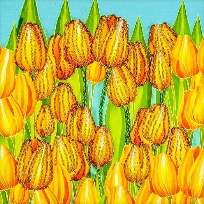 """FLF-123 Набор для вышивки бисером """"Радостные тюльпаны"""""""