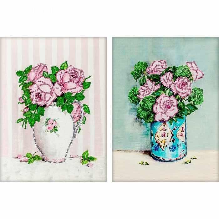 """FLS-051D Схема для вышивания бисером """"Нежность роз"""""""